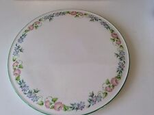 Royal Worcester China Large Gateaux Plate  English Garden  Green Edge  Used Once