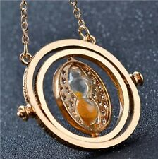 2017 Hot Selling Harry Potter Necklace Time Turner Hourglass Rotating & Spins