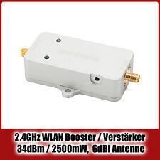 Hochleistungs- 2500mW WLAN Booster / Verstärker, 2.4 GHz, 34dBm + 6dBi Antenne