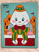 """Playskool Wooden Puzzle """"Humpty Dumpty Sitting on a Wall"""" 12 Pieces"""