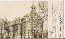High School Building On Central SILVER CREEK NY Antique 1906 Real Photo Postcard