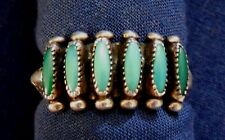 ZUNI PALOMA STERLING 6 Turquoise Needlepoint HANDMADE Vintage RING sz 6.4 Estate