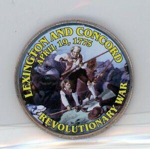 2016 P Kennedy Half Dollar Obverse Lexington and Concord Revolutionary War coin