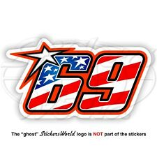 NICKY HAYDEN 69 Stars and Stripes Flag USA MotoGP 75mm Sticker Decal Aufkleber