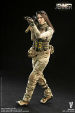1/6 Very Cool VCF-2037A Brunette JENNER fig in A-TACS FG Women Soldier Uniform