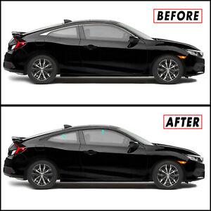 Chrome Delete Blackout Overlay for 2016-21 Honda Civic Coupe Window Trim