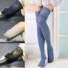 Knitting Lace Cotton Over Knee Thigh Stockings High Socks Pantyhose Tights IM