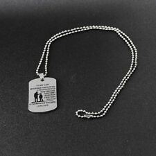 Ik- Men Meaningful To My Son Military Army Style Dog Tag Pendant Necklace Striki