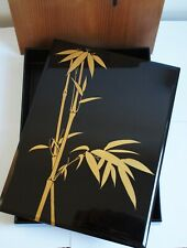 Authentic Japanese Wooden Lacquered Box - Bamboo by Famous Zohiko, Kyoto