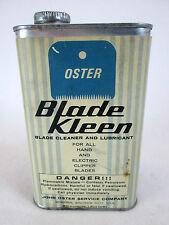 Vintage Oster electric trimmer Blade Kleen empty one pint oil can