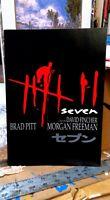 SE7EN SEVEN * BRAD PITT DAVID FINCHER MORGAN FREEMAN 1995 TOKYO PREMIERE PROGRAM