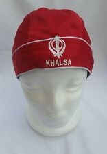Sikh punjabi turban patka pathka Khanda bandana Head Wrap Red Colour Singh Gear