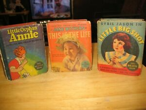 (3) Big Little books ~Little Orphan Annie, Big Shot, Jane Withers 1935 whitman