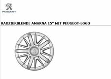 Original PEUGEOT Satz Radkappen Radzierblenden Amarna 15 Zoll 9607V1 NEU