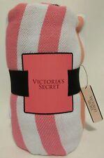 NEW w/Tags VICTORIA SECRET BEACH BLANKET THROW 60 X 50 Striped 100% Cotton