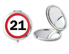 21 ROAD SIGN Specchio compatto ideale onorevoli ventunesimo compleanno madri Giorno Regalo T62