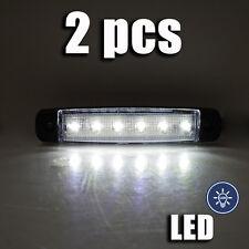 LED SMD Weiß Seitenblinker Positionslicht Heckleuchte Universal Lastwagen 2 x