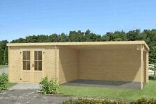 28mm Gartenhaus 700x312 cm Gerätehaus Holzhaus Holz Blockhaus Schuppen Hütte Neu