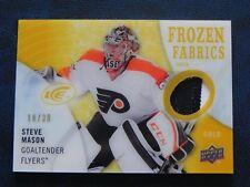 2014-15 14/15 UD Ice Frozen Fabrics GOLD PATCH Steve Mason Flyers / 30