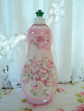 Pink Ashwell Roses Shabby French Country Floral Chic Soap Lotion Bottle Apron