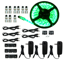 Cut and Connect Series Kit: Super Bright Flexible Strip- Green 12M Kit