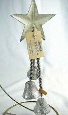 Antique Salesmen Sample Glass Bead Drop Decoration w Silver Foil Bells - Rare!