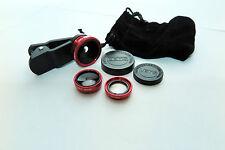 3 in 1 Macchina Fotografica Kit Obiettivo Fish-Eye Grandangolare MacRo Obiettivo Per Iphones Samsung
