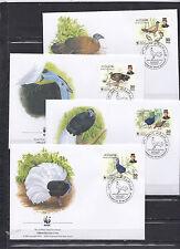 Brunei 2001 - FDC - Vogels/Birds/Vögel  WWF/WNF