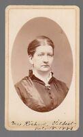 [60377] 1883 CDV PHOTOGRAPH MRS. RICHARD GILBERT (WOOD: TOWANDA, PENNSYLVANIA)