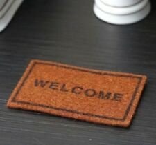 1:12 Dollhouse Miniature Door Mat Rug With Welcome Lettering For Home Garden
