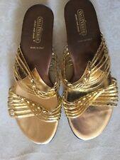 Fantastic sandals VALLE VERDE Woman gold color size 41 Sandali Donna, colore oro