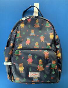 Cath Kidston Large Multi Pocket Backpack Rucksack Woodland Bear -NEW