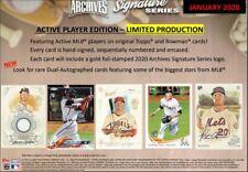 2020 Topps Archives подпись Series активный бейсбол 20 коробка запечатанная коробка предварительная продажа