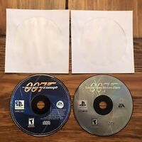 007 The World is Not Enough & Tomorrow Never Dies PlayStation 1 Disc Only Tested