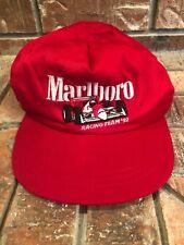 VTG 1992 Marlboro Racing Team Red Snapback Hat Cap Indy Car