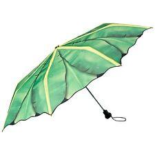 Taschenschirm mini grün UV-Schutz Damen Herren Geschenk Natur Bananenblatt 5602T