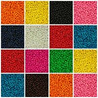 200 Pcs - 8mm ROUND WOODEN BEADS WOOD CRAFT BEAD KIDS MANY COLOURS UK