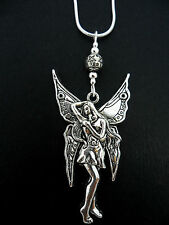 A LOVELY TIBETAN SILVER  LARGE FAIRY  NECKLACE.  NEW.