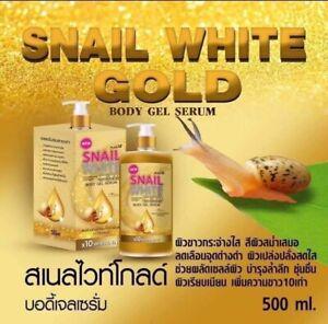 SNAIL WHITE GOLD BODY GEL SERUM LOTION 500ML