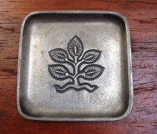 Vtg Stopt Tinn David Andersen Pewter Norway Tree of Life Small Plate Dish 2.75""
