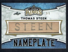 2019-20 LEAF LUMBER KINGS THOMAS STEEN NAMEPLATE GAME USED STICK #1/1 19-20