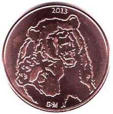 2013 Bearish vs Bullish 999 Fine Copper Coin - Buy 4 get 1 free offer!