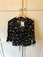 Patterened Topshop Blouse - Uk Size 8 - Brand New