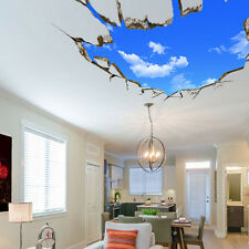 3D Broken Blue Sky Floor Ceiling Wall Stickers Art Vinyl Decals House Decor SJ
