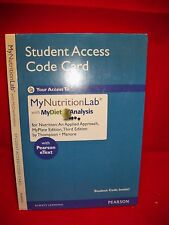 New Access Code Card for MyNutritionLab An Applied Approach MyPlate Edition 3rd