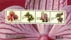 Canada #2356 Orchids  SS(4) MNH CV$9