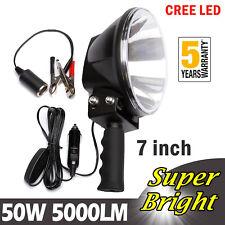 LED 5000 lm Spotlight Hunting Hand Held Torch Spot Light 180mm 12V&Battery Clip