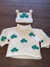 Unisex Clauce Shamrock Sweater & Hat Size 18 Months