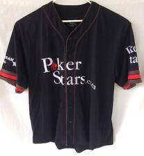 MENS XL POKER STARS WSOP TEAM 2006 PRO BASEBALL JERSEY WORLD SERIES OF POKER 06