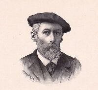 Portrait XIXe Louis Émile Adan Peintre Peinture Illustrateur